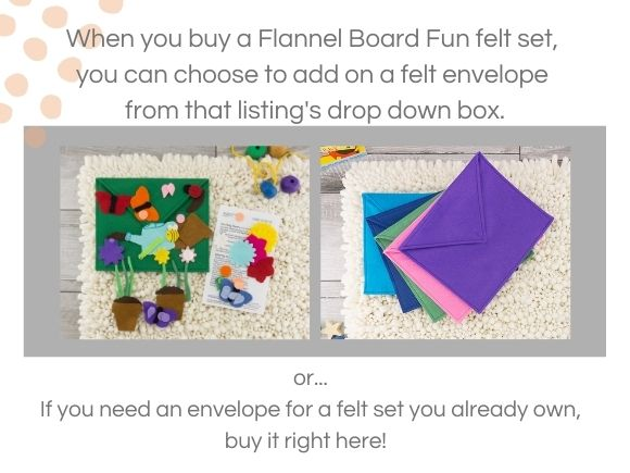 felt envelopes are included with felt play mat