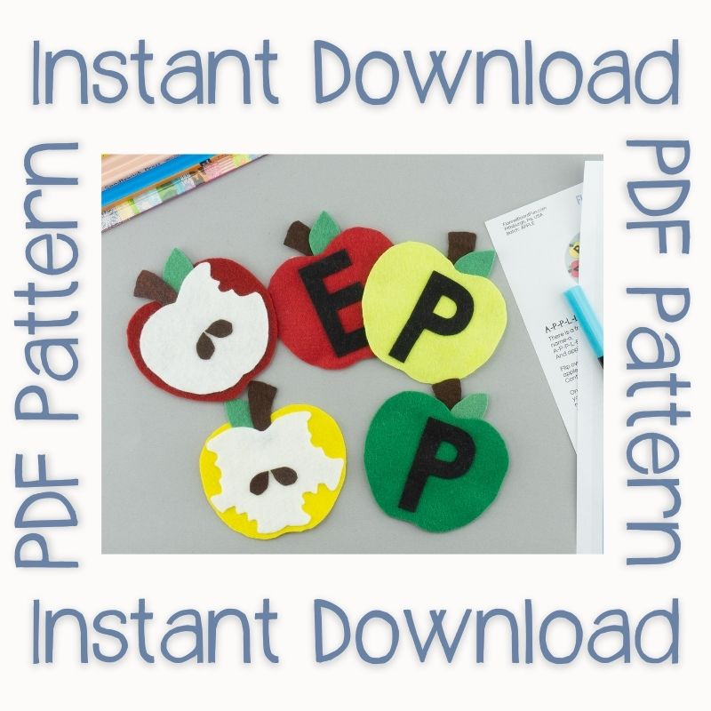 APPLE bingo felt board instant download
